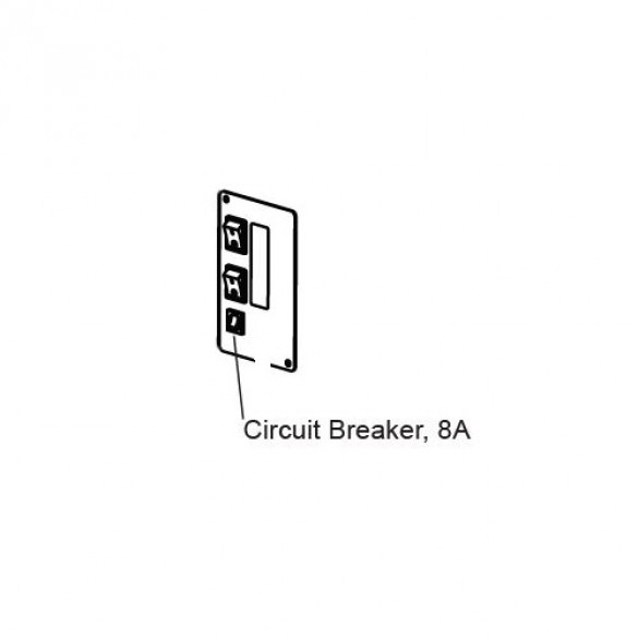 8A Circuit Breaker And Panel Mount - MX4613