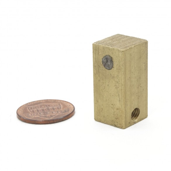 Brass Block with Magnets