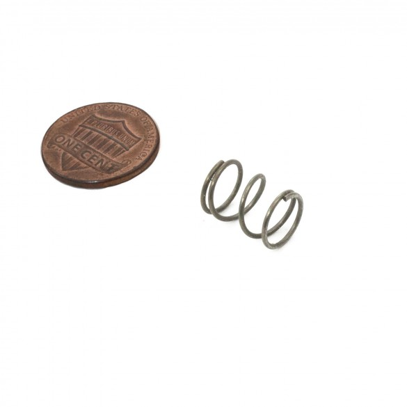 Proximity Compression Spring (penny shown for scale)