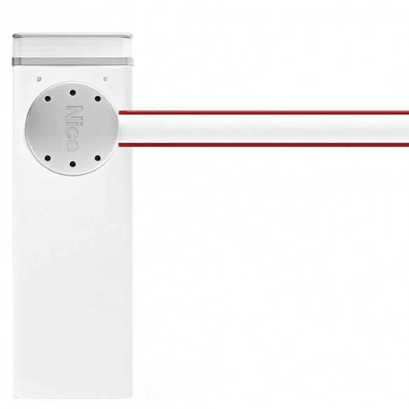 Nice Apollo M3BAR M-Bar Barrier Gate Operator for up to 9.8 ft Barrier Arms (White) - Barrier Arm Not Included