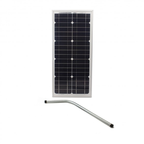 Nice Apollo 21424-30SP Gate Opener Solar Panel (30 watts) with Mounting Bracket - 24VDC
