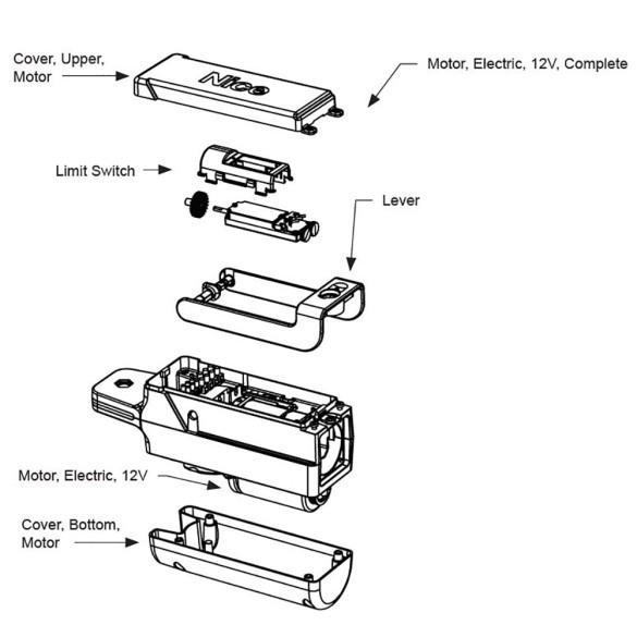 Nice Apollo Complete Motor Compartment For TITAN12L/12L1, 12V - SPAMG205A00