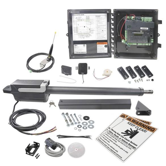 Nice Apollo TITAN12L1 AC Swing Gate Opener Kit With Battery Backup