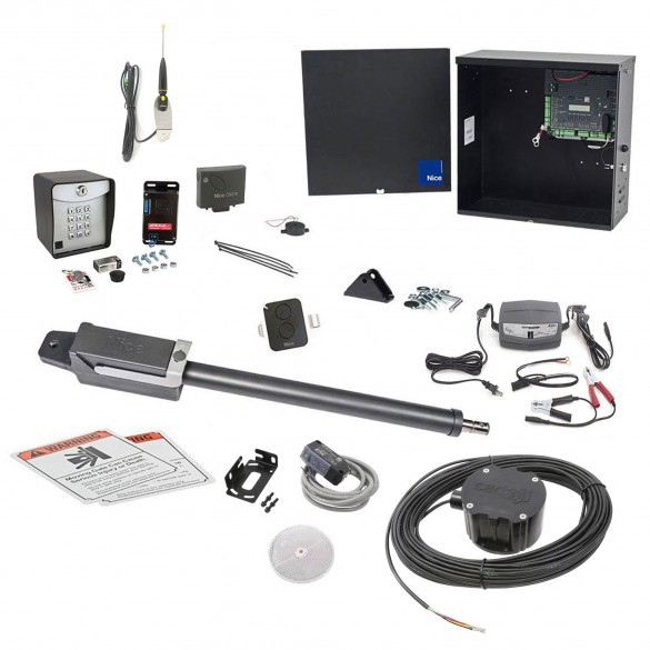 Nice Apollo TITAN12L1 Swing Gate Opener Full Package w/ 1050 Control Board and Entry/Exit Controls