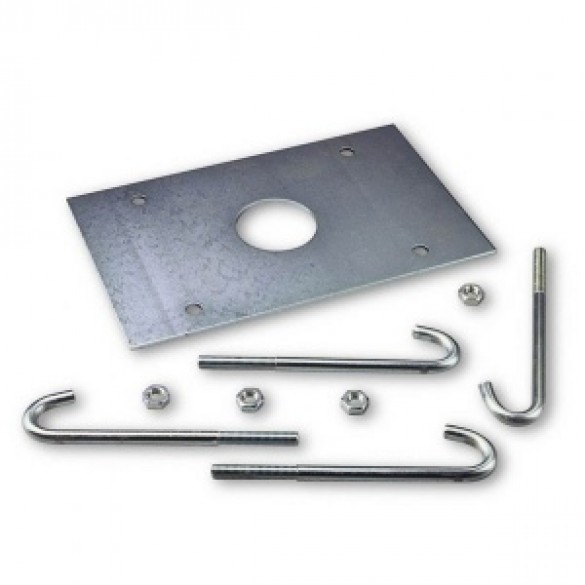 Anchorage Base with Clamps for L-Bar & M-Bar Gate Openers
