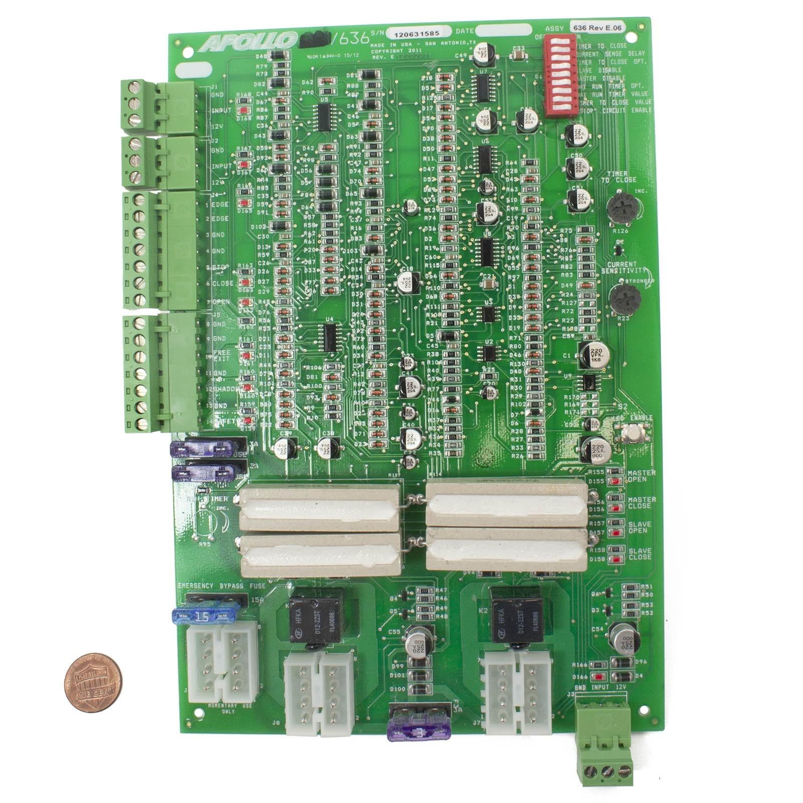 nice apollo 635 control board for apollo 1500 gate opener apollo rh apollogateopeners com Apollo 636 Circuit Board Manual Apollo 635 Manual PDF