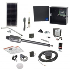 Nice Apollo TITAN12L1 Swing Gate Opener Solar Package w/ 1050 Control Board, 20 Watt Solar Panel and Entry/Exit Controls