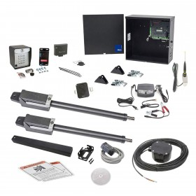 Nice Apollo TITAN12L1 Dual Swing Gate Opener Full Package w/ 1050 Control Board and Entry/Exit Controls