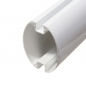 "Nice Apollo XBA5 202"" White Aluminum Bar for L-Bar and M-Bar Gate Openers"