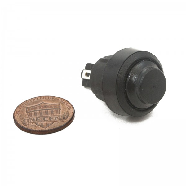 Control Box Push Button Switch (penny shown for scale)