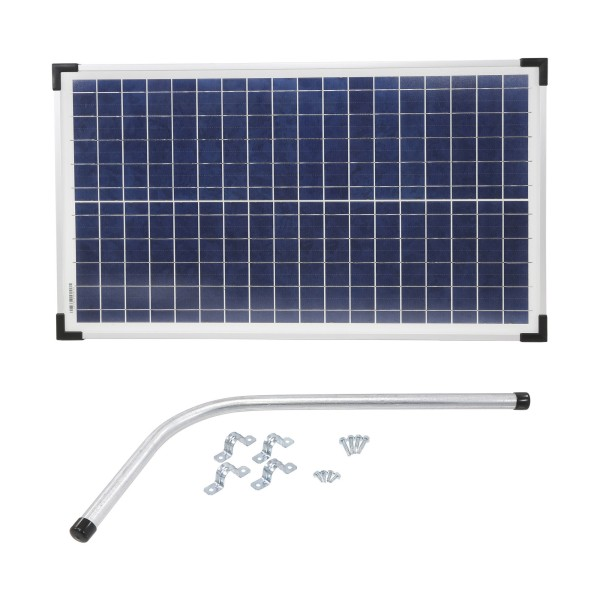 S30W Gate Opener Solar Panel (30 watts) with Mounting Bracket - 12V