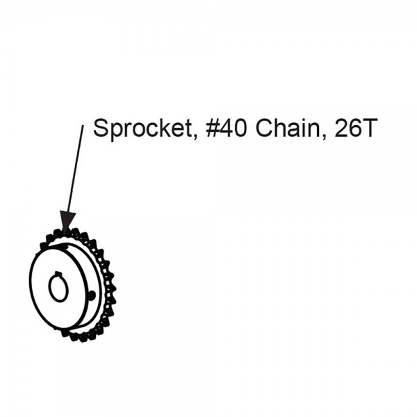 #40 Chain 26T Sprocket - MX4364