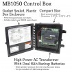 Nice Apollo TITAN12L1 AC Swing Gate Opener Kit With Battery Backup (MB1050 Control Box Shown)