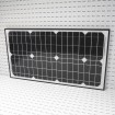 S30W Gate Opener Solar Panel (30 watts) with Mounting Bracket -12V (Grid Shown For Scale)