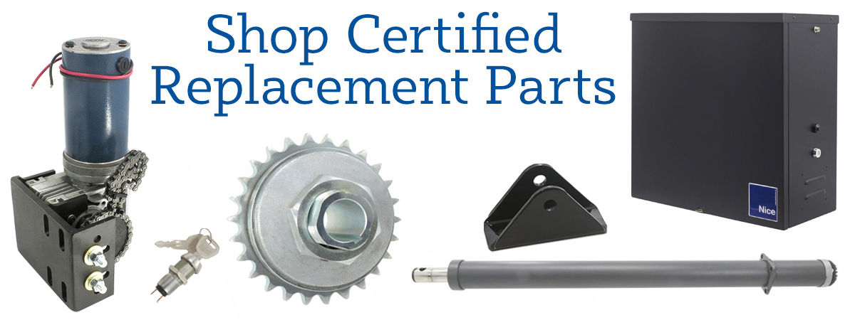We Carry Certified, OEM Replacement Parts For All Nice Apollo Gate Operators