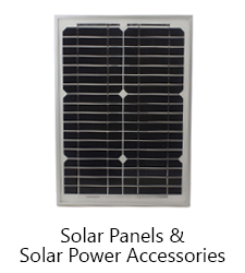 solar panels and solar power accessories
